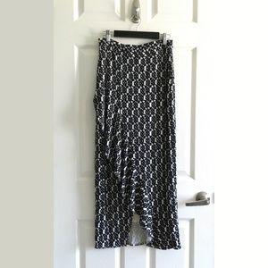 Anthropologie Maeve Faux Wrap Ruffle Maxi Skirt